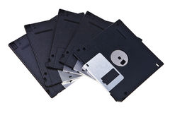 Old type magnetic floppy discs. Royalty Free Stock Photo
