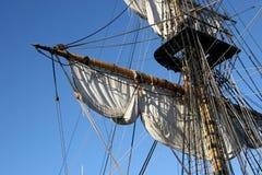 Old type schooner. Old schooner/ship mast royalty free stock photography