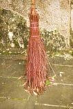 Old type straw broom Stock Image