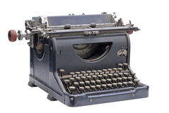 The old type writer. Image of an old type writer on white Stock Photography