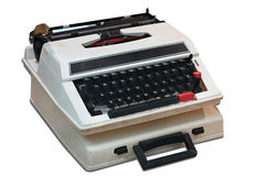 Old type writer isolated Stock Photography