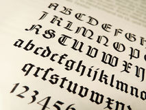 Old typeface, gothic texture royalty free stock photo