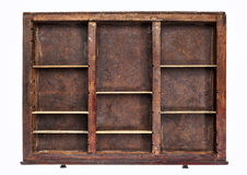 Old typesetter drawer Stock Photos