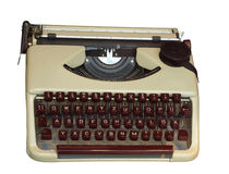 Old typewriter. Isolated on White Royalty Free Stock Images