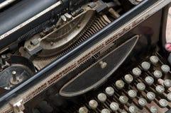 Old typewriter. Typewriter fragment, the top view Royalty Free Stock Photos