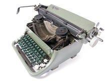 Old typewriter. Isolated on white background stock photography