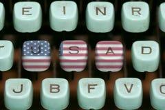 Old typewriter. Keys - 4th july stock photos