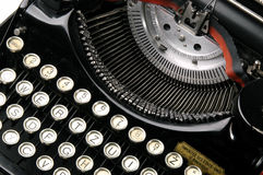 Old typewriter. A close up of a very old typewriter Royalty Free Stock Photos