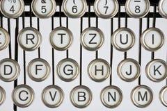 Old typewriter. Keyboard of an old, black typewriter Royalty Free Stock Images