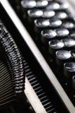 Old typewriter. Closeup of old typewriter royalty free stock photography