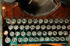 Old typewriter. Closeup of old typewriter keys Royalty Free Stock Images
