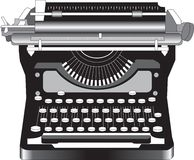 Old Typewriter. Illustration of antique style manual typewriter stock illustration
