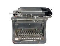 Old typewriter. Isolated on White Royalty Free Stock Photos