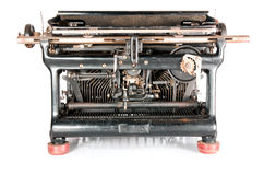 Old typewriter from the back Stock Image