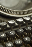 Old typewriter - bakelite keys close-up Royalty Free Stock Photos