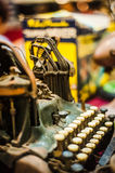 Old Typewriter. An old typewriter being sold in a flea market Royalty Free Stock Images
