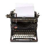 Old typewriter with a blank paper Royalty Free Stock Photos