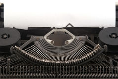 Old Typewriter with blank sheet of paper Royalty Free Stock Photography