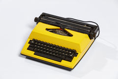 Old typewriter, blank sheet in a typewriter. Royalty Free Stock Image
