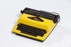 Old typewriter, blank sheet in a typewriter. Royalty Free Stock Image