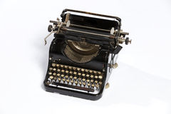 Old typewriter, blank sheet in a typewriter. Royalty Free Stock Images