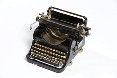 Old typewriter, blank sheet in a typewriter. Royalty Free Stock Photo