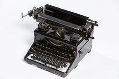 Old typewriter, blank sheet in a typewriter. Royalty Free Stock Photography