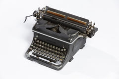 Old typewriter, blank sheet in a typewriter. Royalty Free Stock Photography