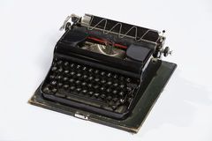 Old typewriter, blank sheet in a typewriter. Royalty Free Stock Photo