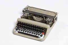 Old typewriter, blank sheet in a typewriter. Stock Photos