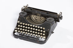 Old typewriter, blank sheet in a typewriter. Royalty Free Stock Photos