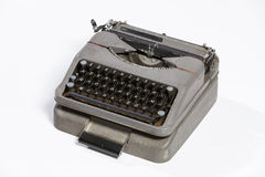 Old typewriter, blank sheet in a typewriter. Stock Images