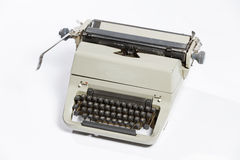 Old typewriter, blank sheet in a typewriter. Stock Photography