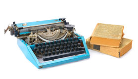 Old typewriter and books Royalty Free Stock Image