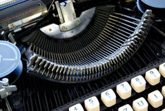 Old Typewriter. Brno, Czech Republic, September 5 2012 Stock Photos