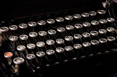 Old typewriter, deadline text. As a background stock photos