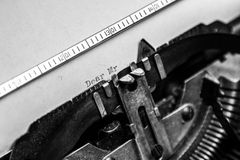 Old typewriter - Dear Mr. Stock Images