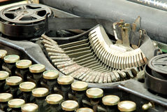 Old typewriter, detail Royalty Free Stock Photos