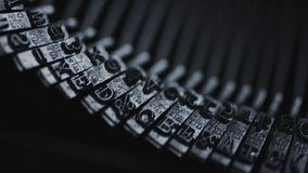 Old typewriter details. Close up view of old Typewriter details stock video footage