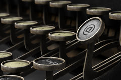 Old typewriter with email symbol Royalty Free Stock Image