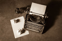 Old typewriter Stock Images