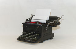 Old typewriter - front sideview Royalty Free Stock Photo