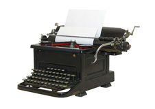 Old typewriter - front sideview - isolated Royalty Free Stock Photos