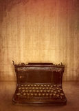 Old Typewriter. In front of a wall stock photos