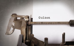 Old typewriter - Guinea stock photography