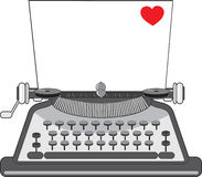 Old Typewriter Heart Stock Photo