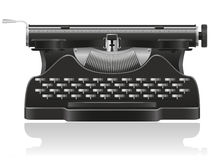 Old typewriter  illustration Stock Photo