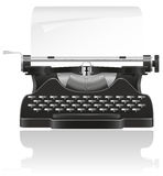 Old typewriter  illustration Stock Photos