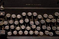 Old typewriter. With irregular keyboard Stock Photography