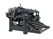 Old typewriter isolated Stock Image